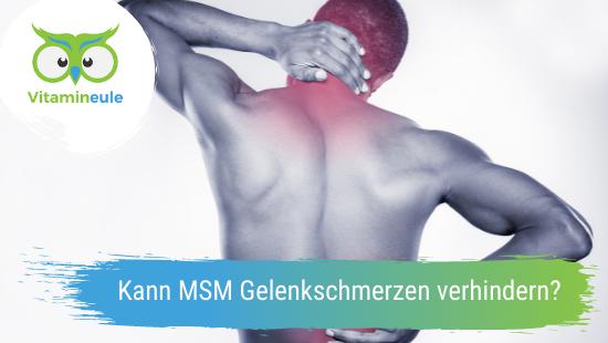 Kann MSM Gelenkschmerzen verhindern?