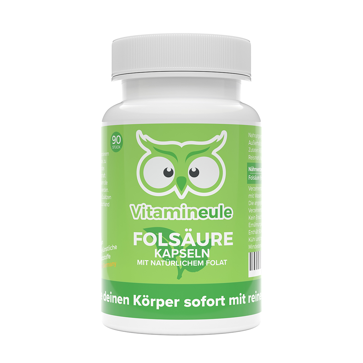 Folsäure Kapseln von Vitamineule