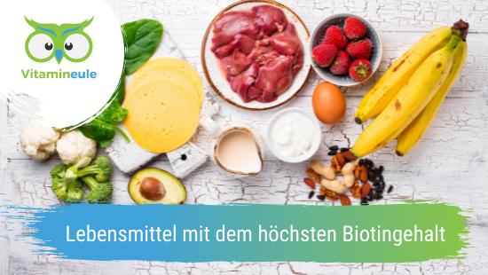 Lebensmittel mit dem höchsten Biotingehalt