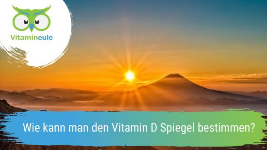 Wie kann man den Vitamin D Spiegel bestimmen?