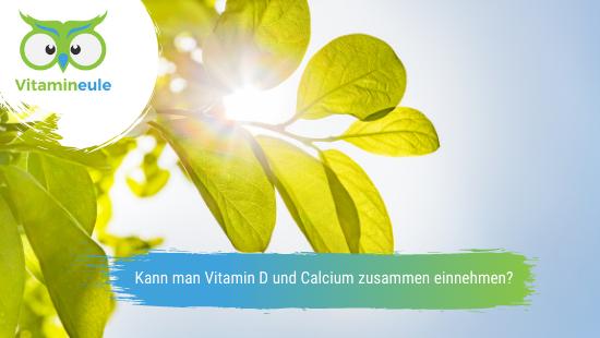 Kann man Vitamin D und Calcium zusammen einnehmen?