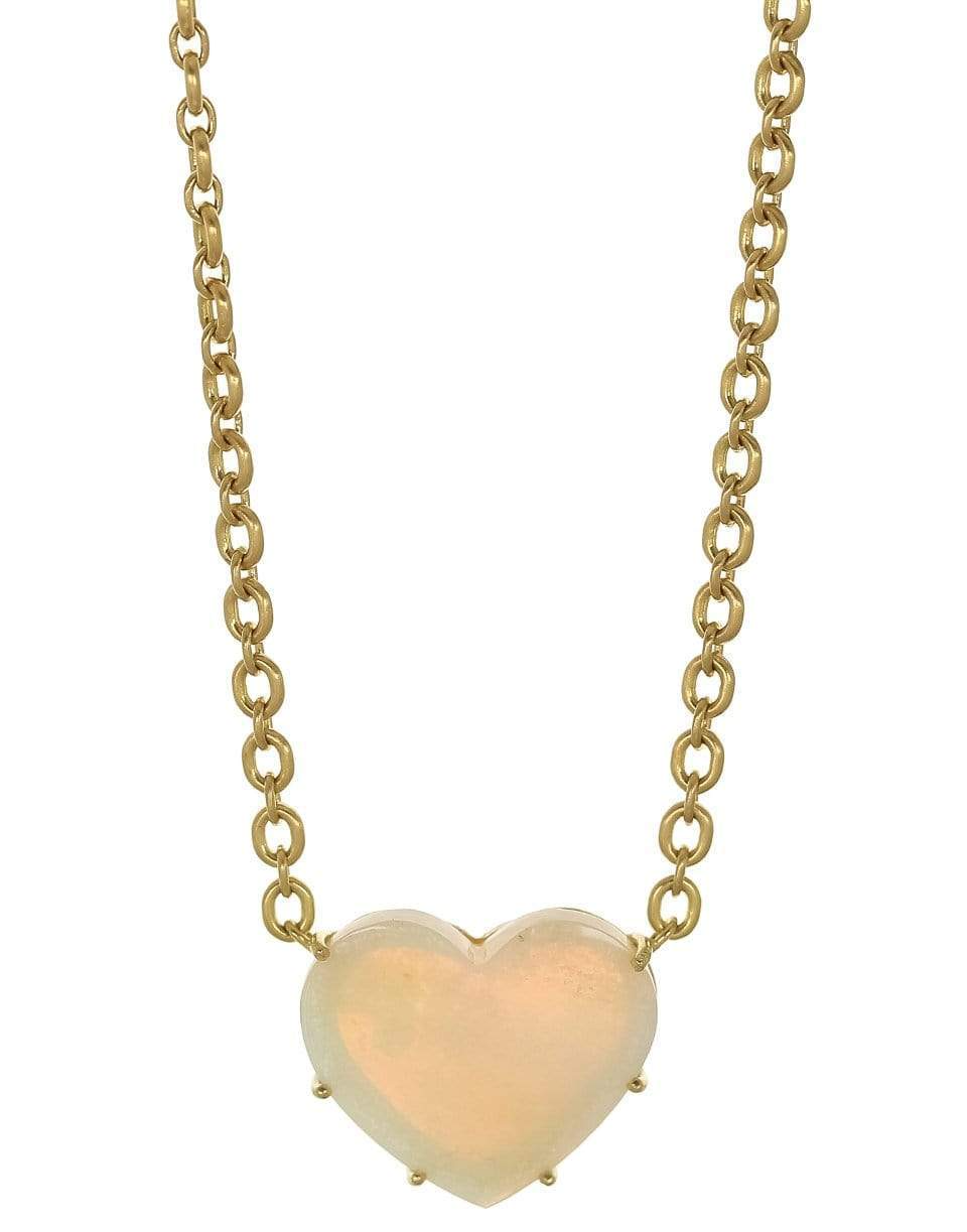 IRENE NEUWIRTH JEWELRY Opal Heart Necklace