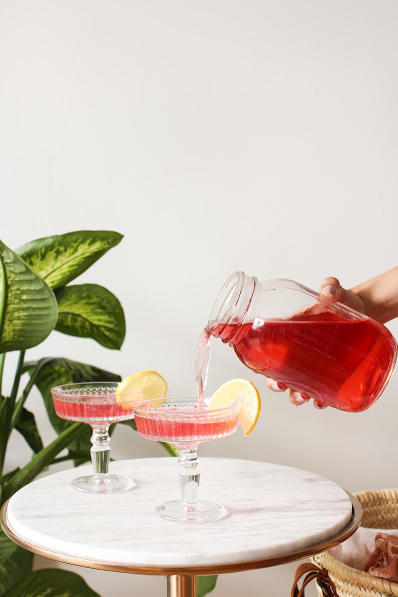 limonade alcoolisée au thé glacé