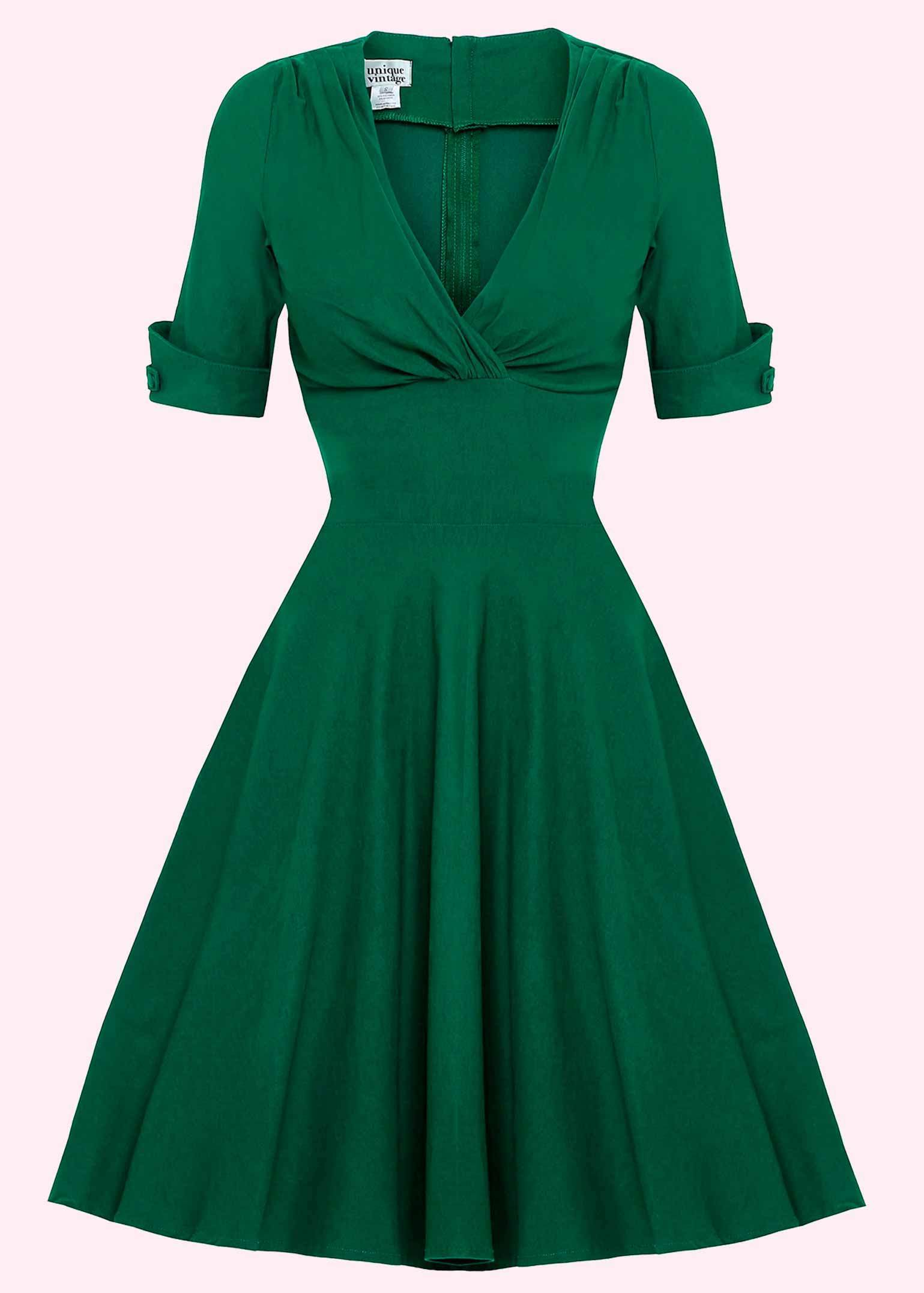 Green swing dress from Unique Vintage