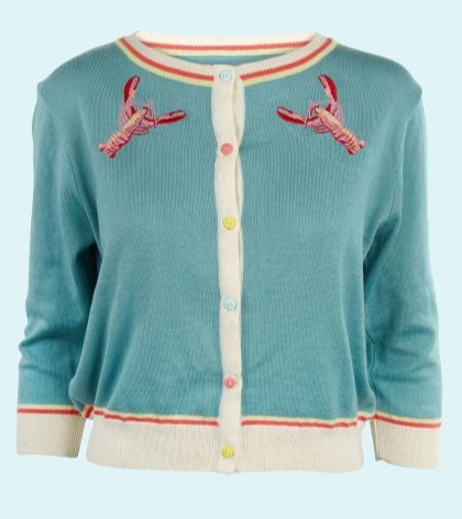 Knit cardigan with embroidery