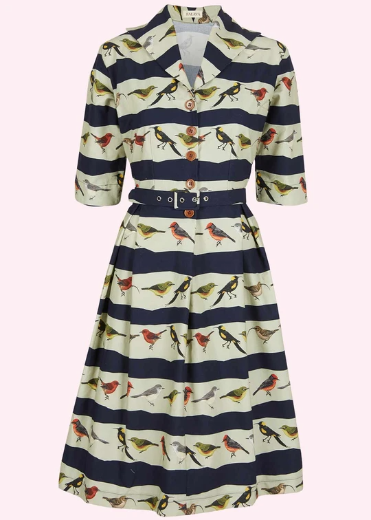 Palava dress with novelty print in 100 organic cotton
