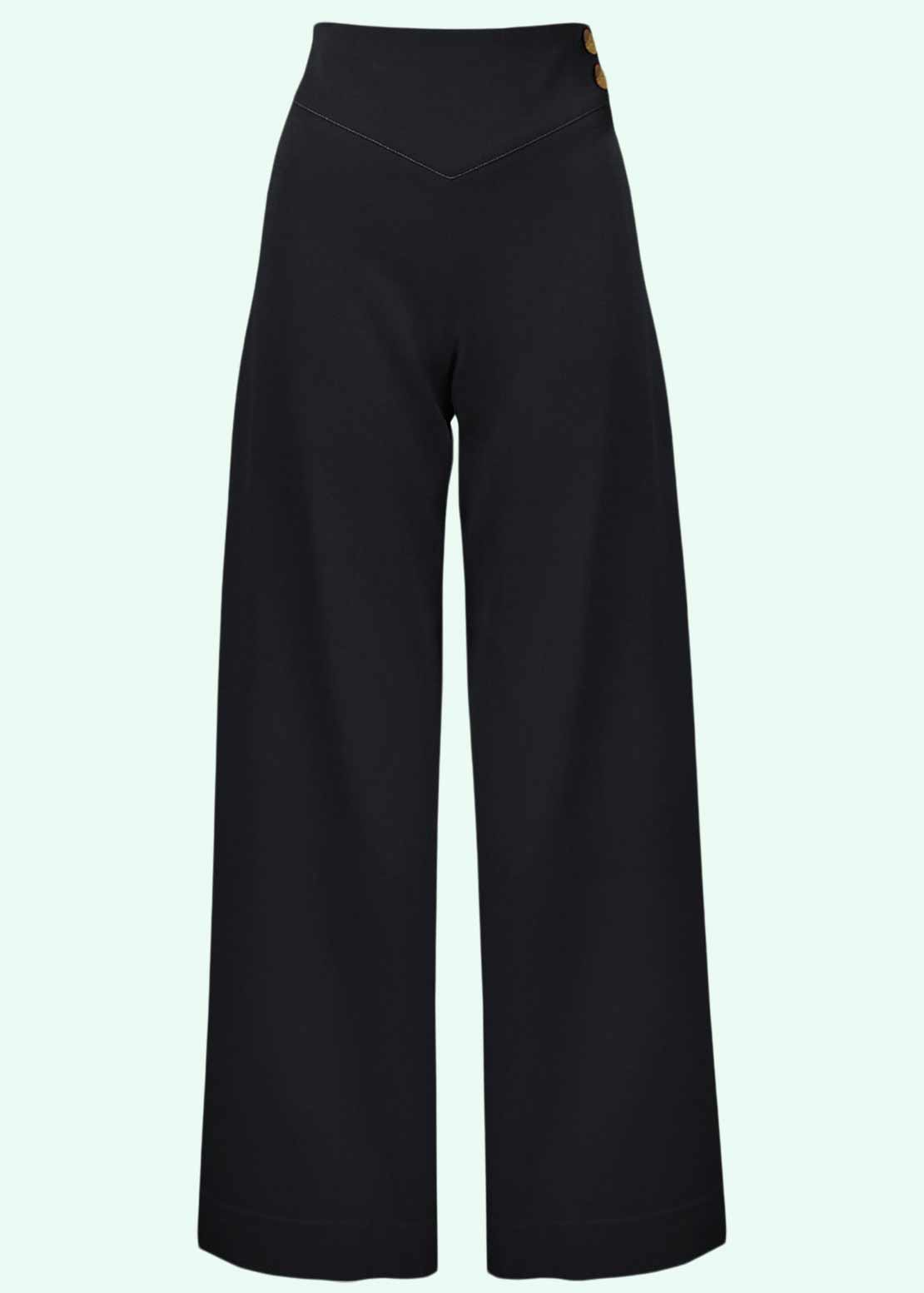 Riviera pants with wide legs vintage style