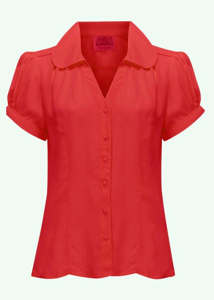 Rød vintage skjorte