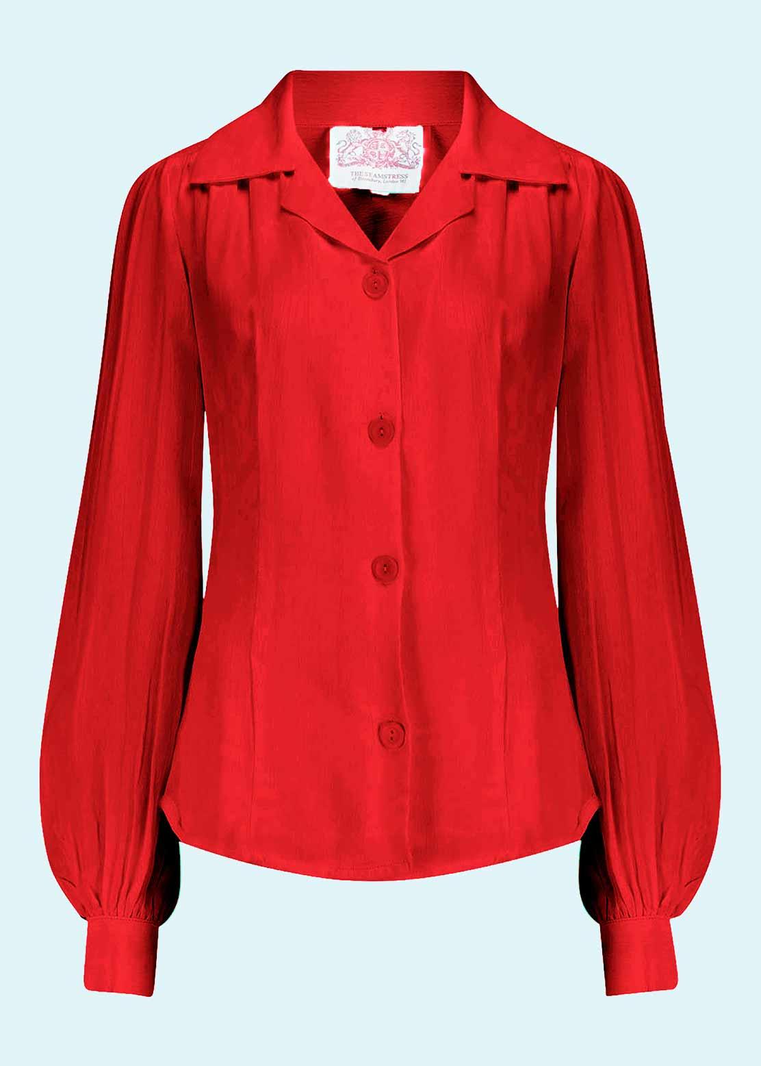 rød skjorte i vintage stil