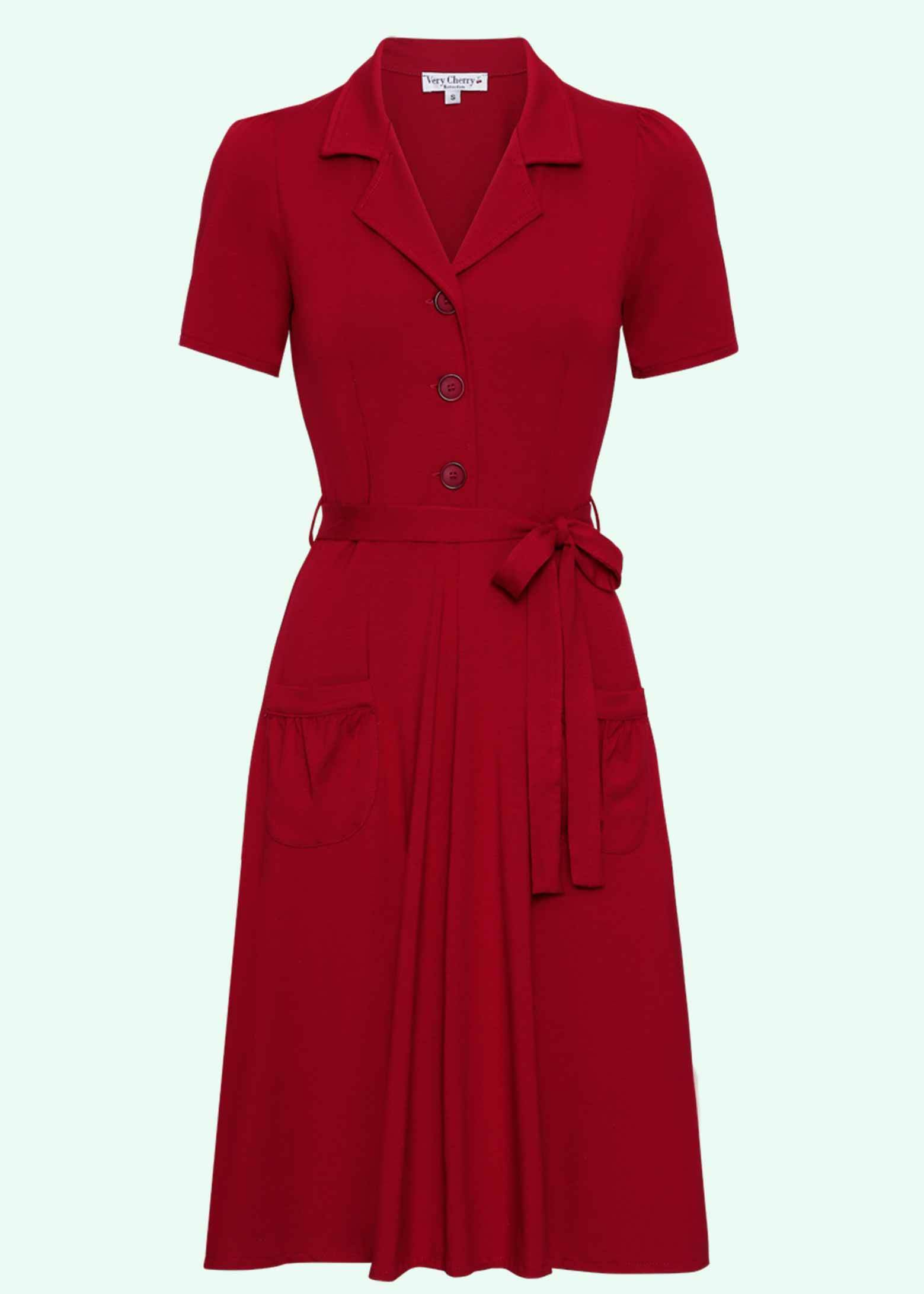 Vintage style shirt dress in red from Very Cherry