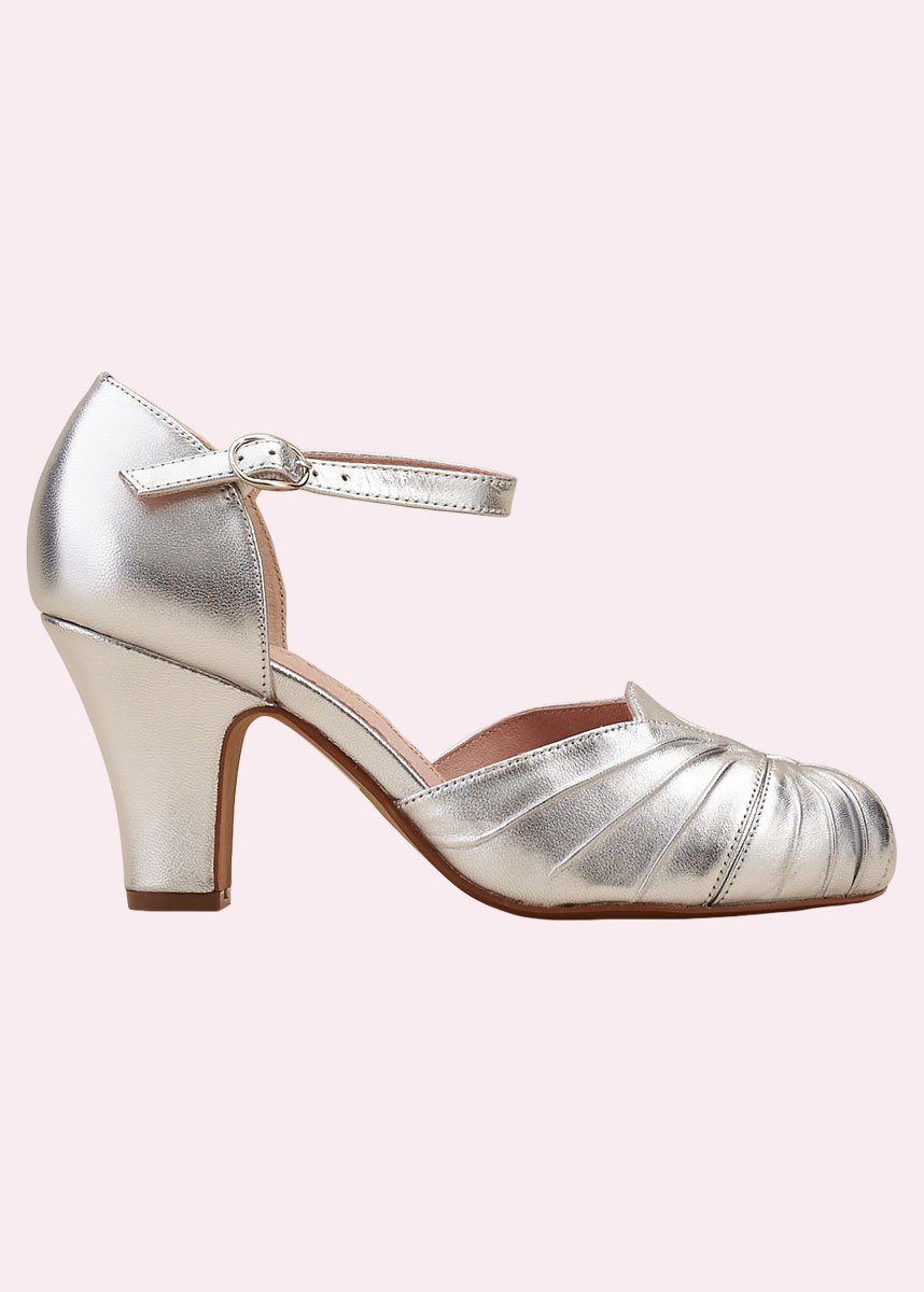Silver shoes with heels from Miss L Fire
