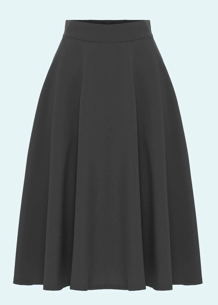 Black swing skirt in a classic cut