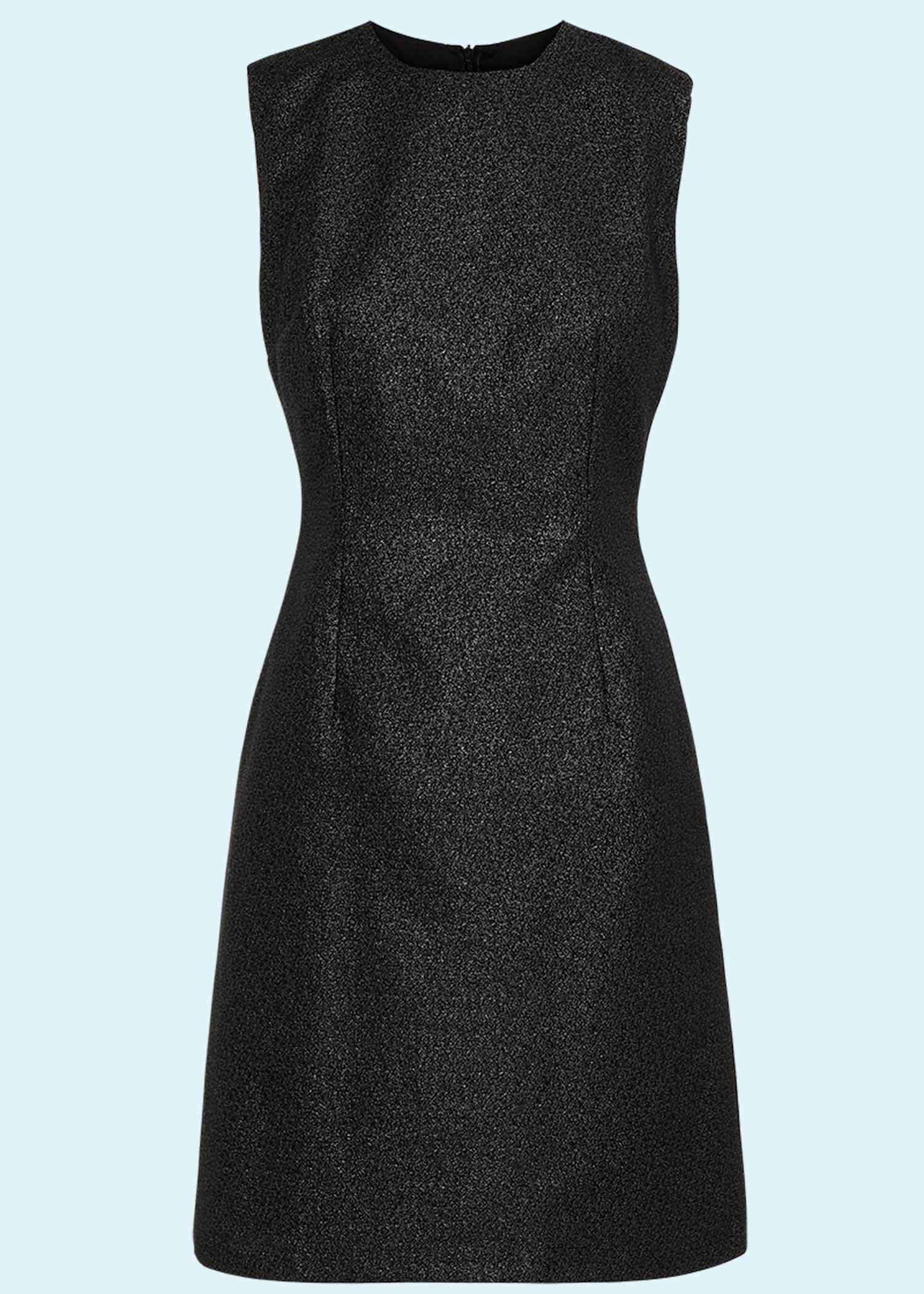 Mini dress in black glitter perfect cocktail dress