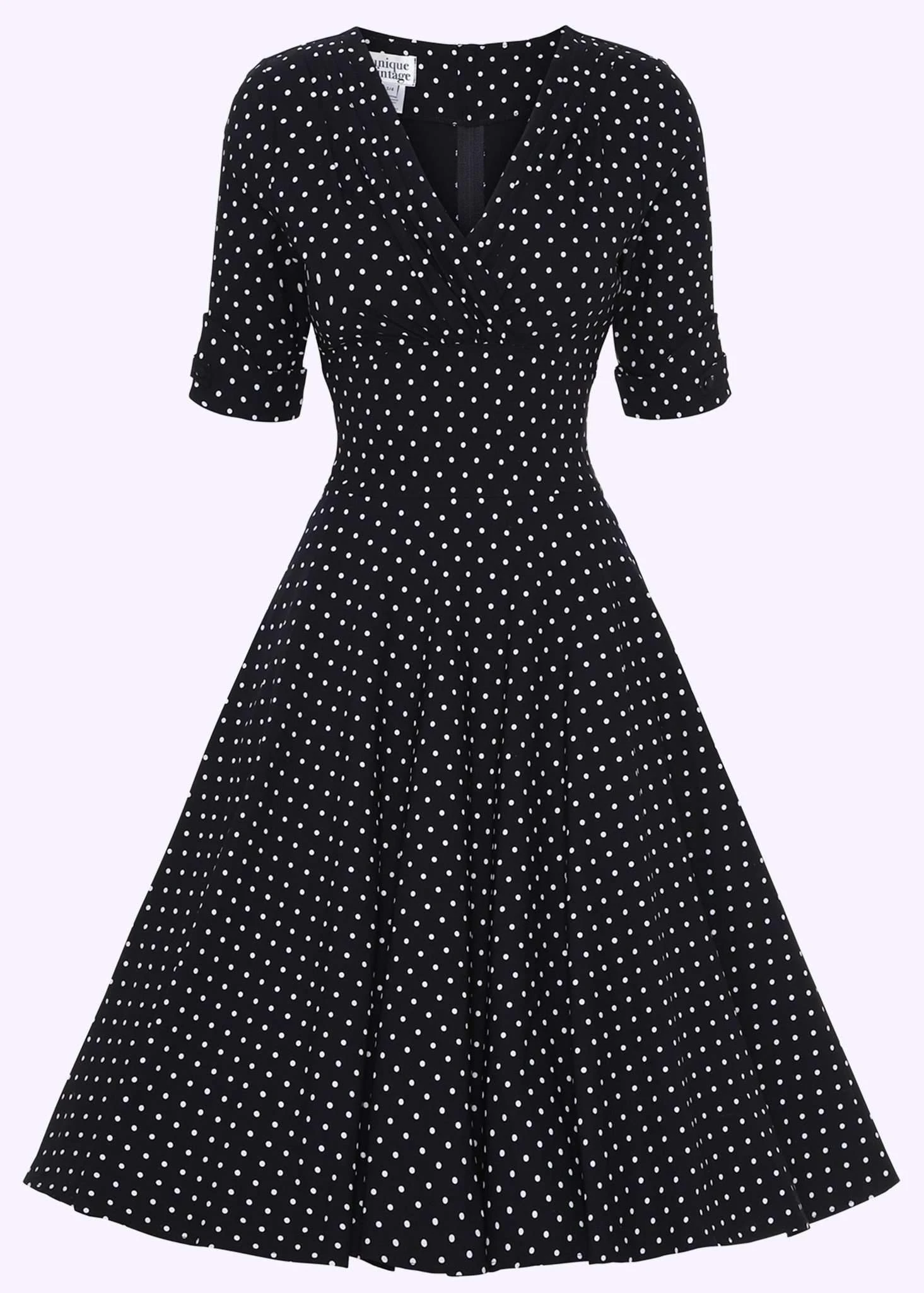 Unique Vintage swing dress with dots