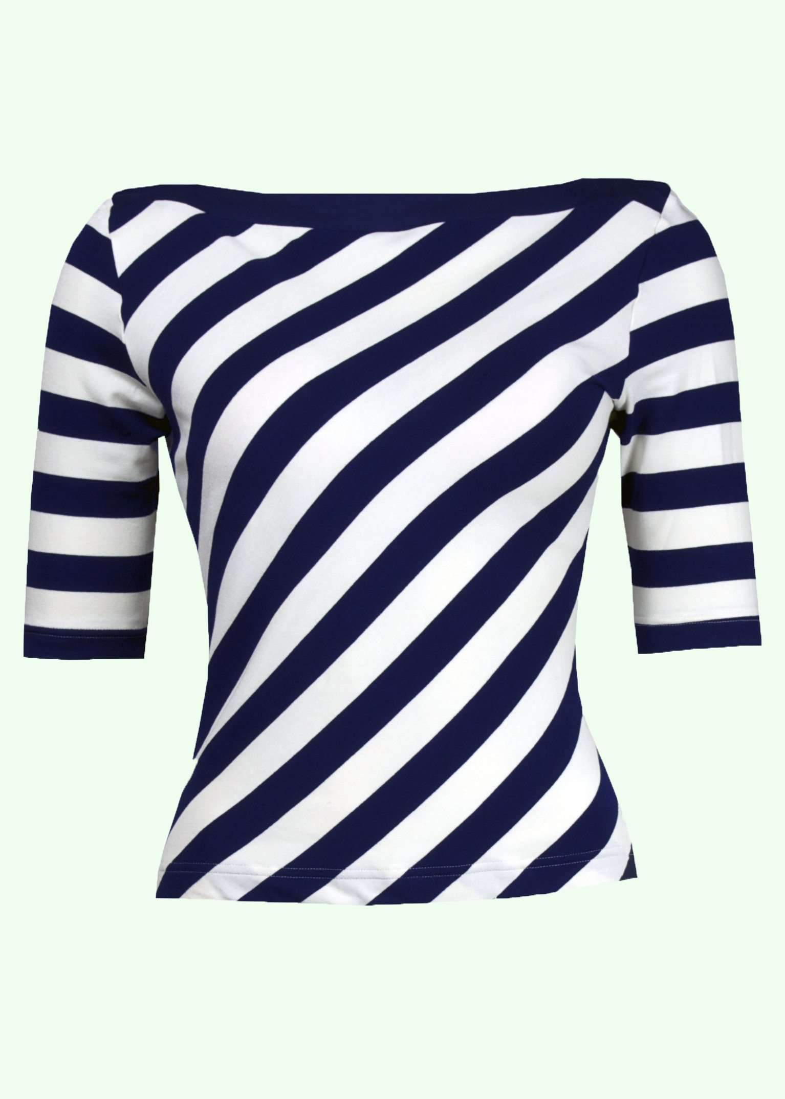 Vintage style top with diagonal stripes