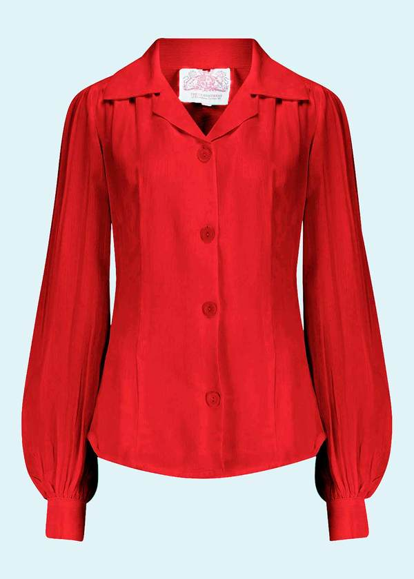 Vintage shirt blouse in red