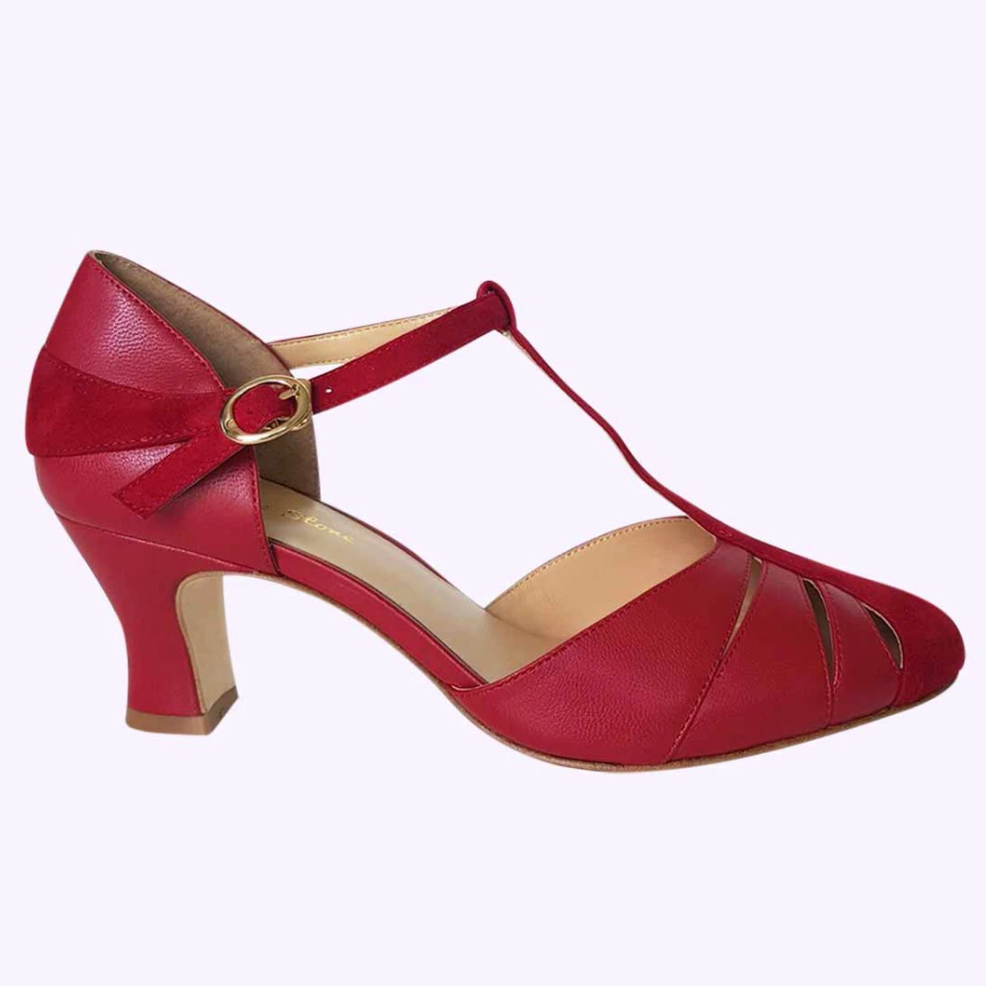 Red heels from Charlie Stone in vintage style