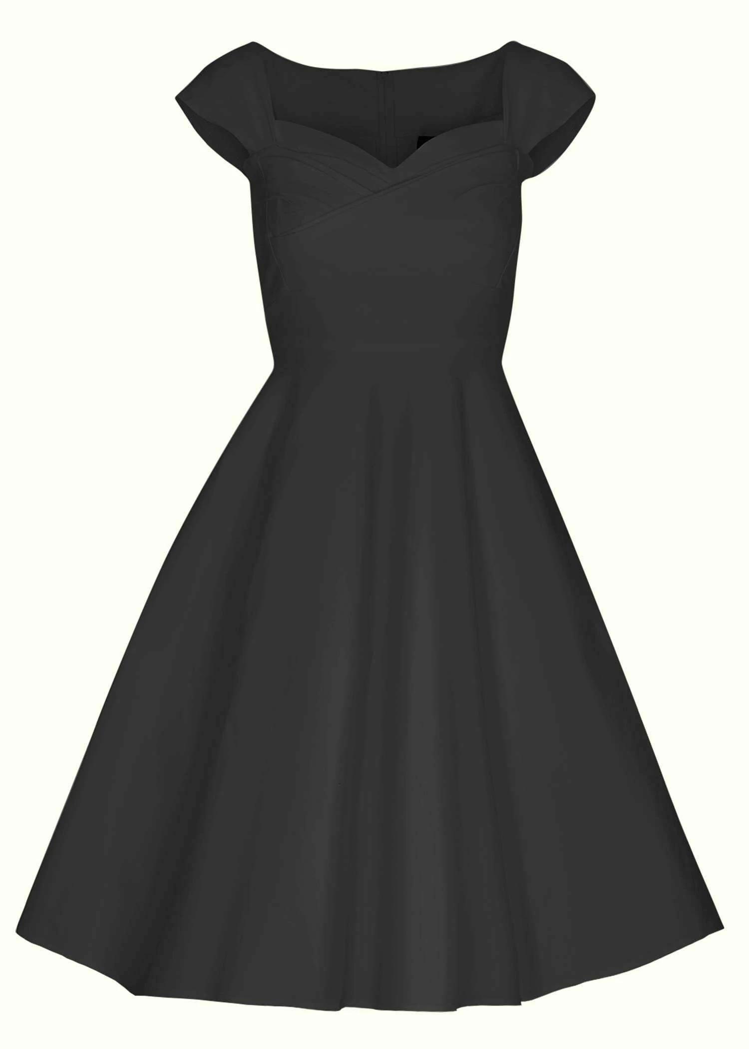 Food but swing dress in black