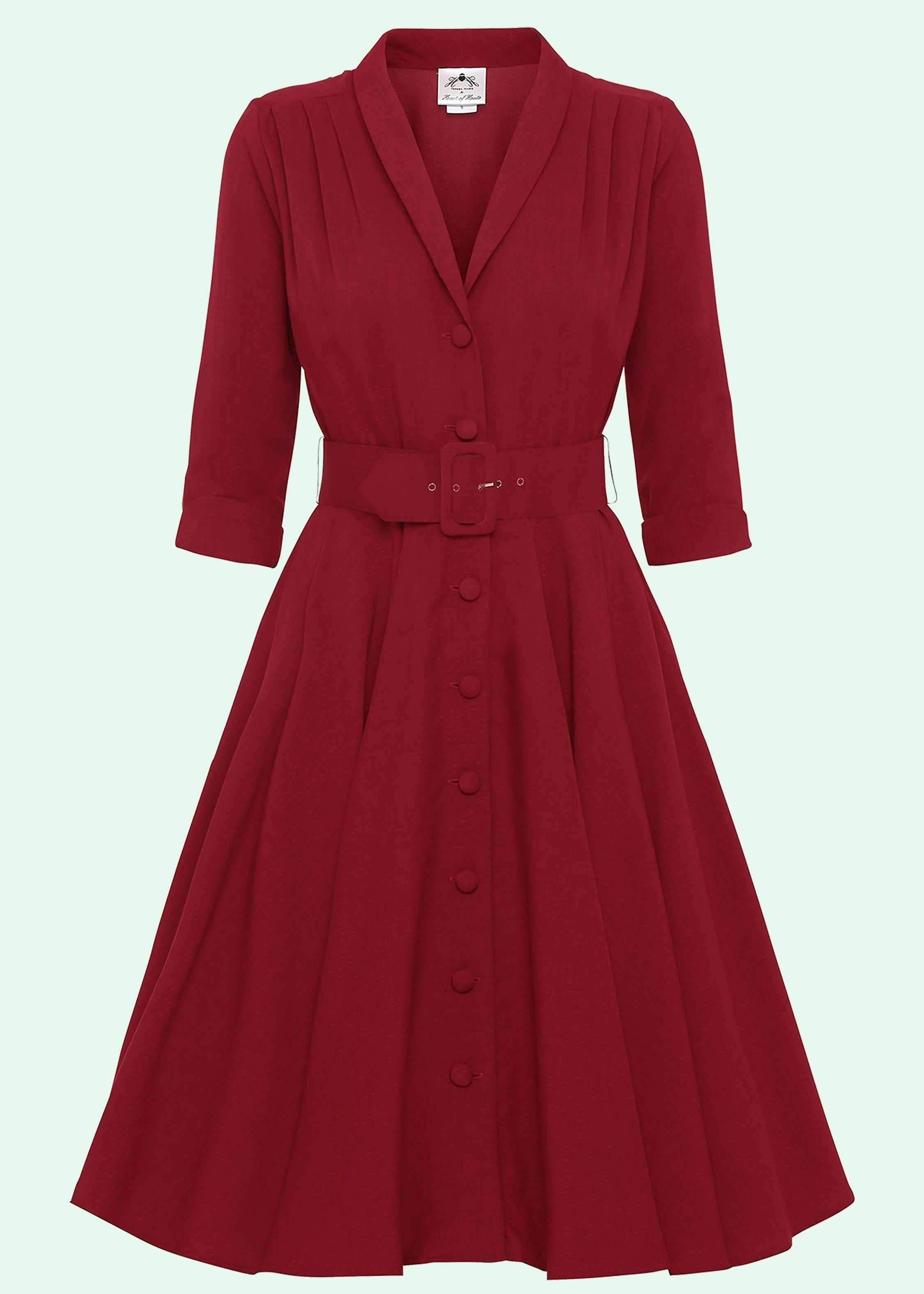 Shirt dress in red from Heart of Haute