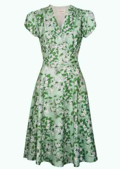 Apple flower print dress