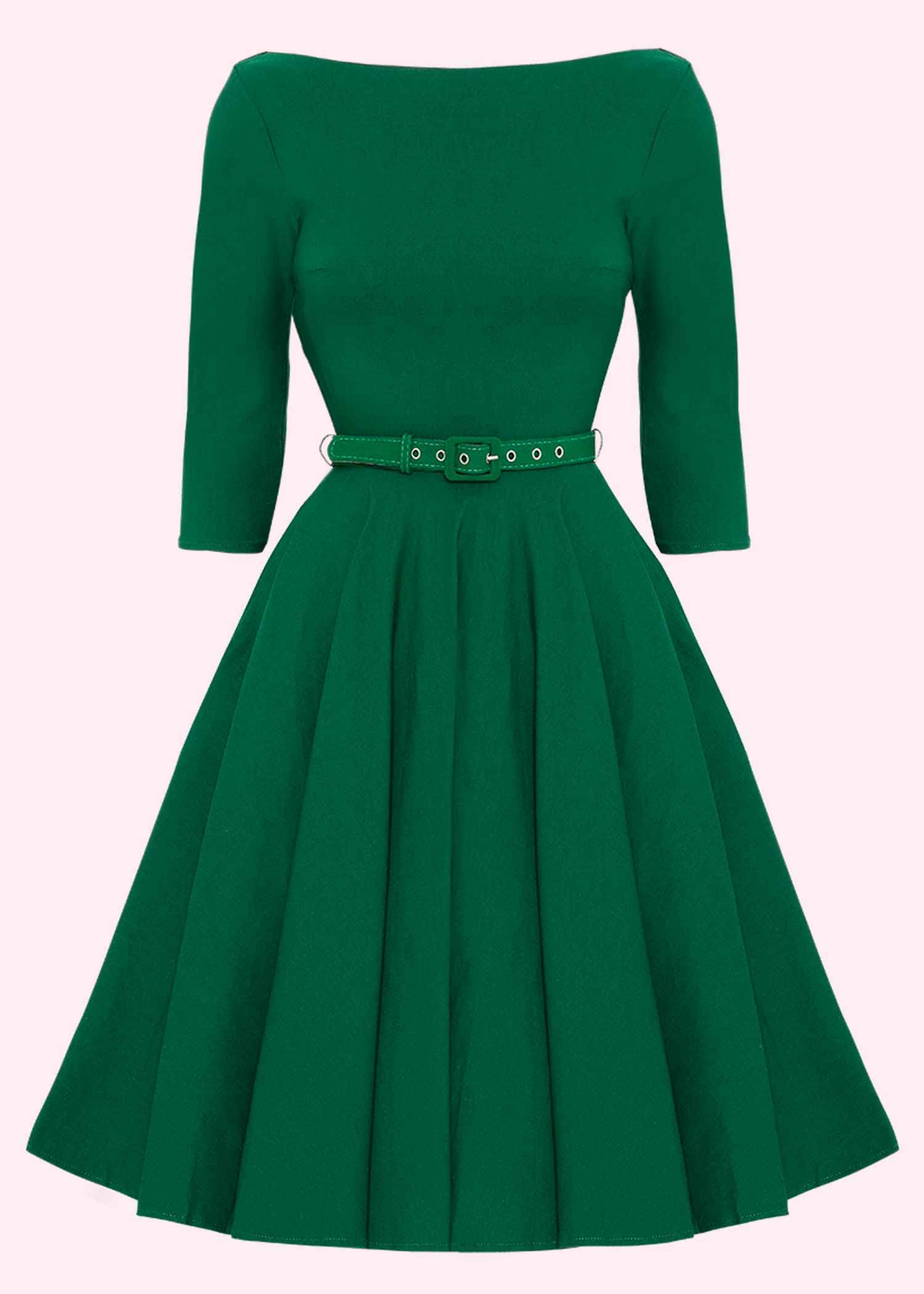Unique Vintage swing dress in green