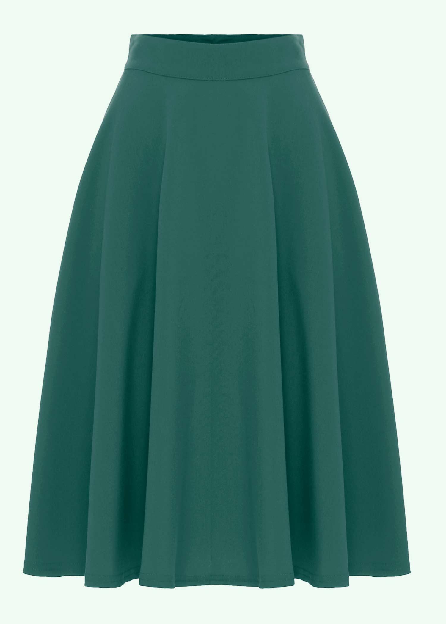 swing skirt in jade green