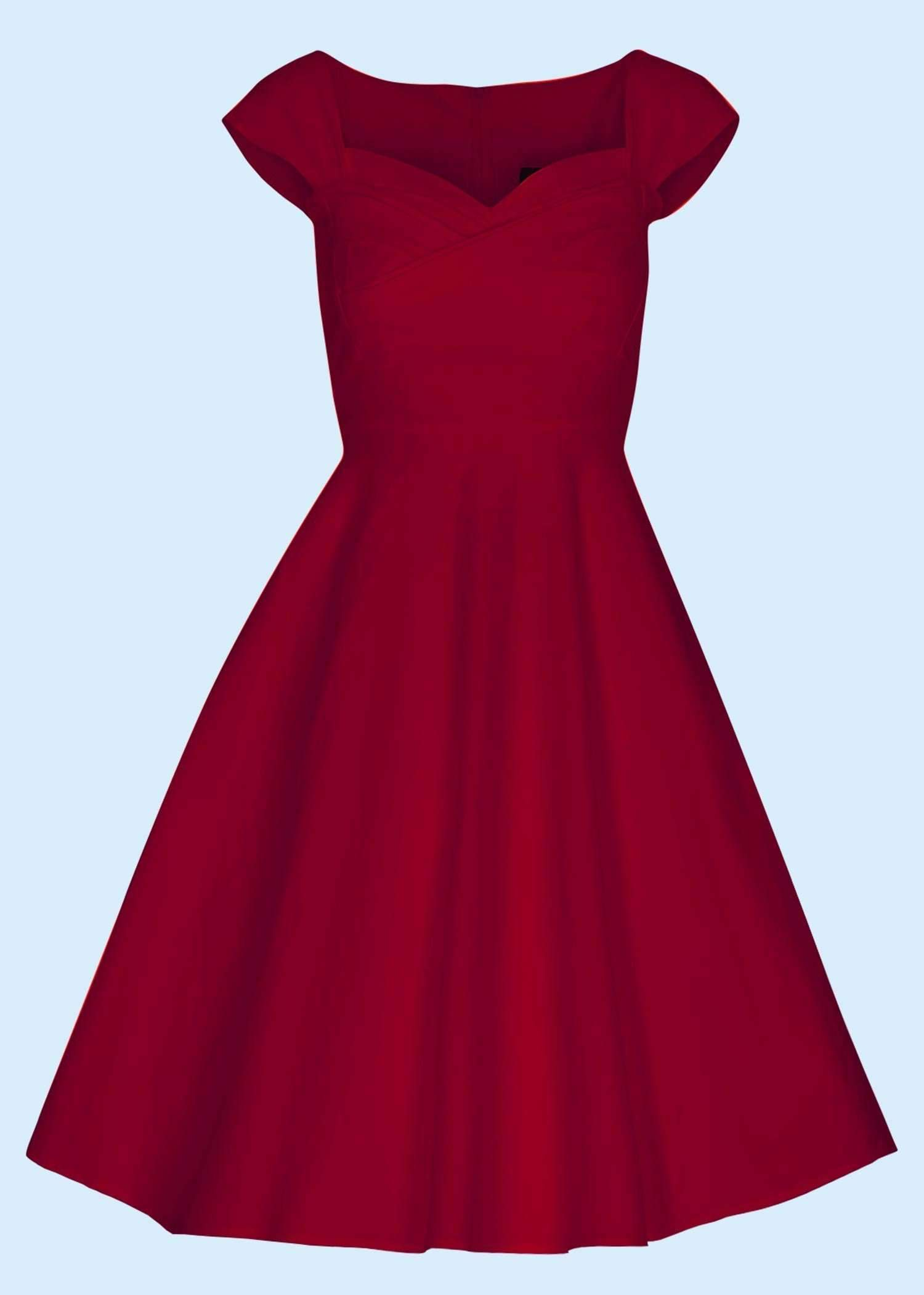Swing dress in red, perfect for valentines