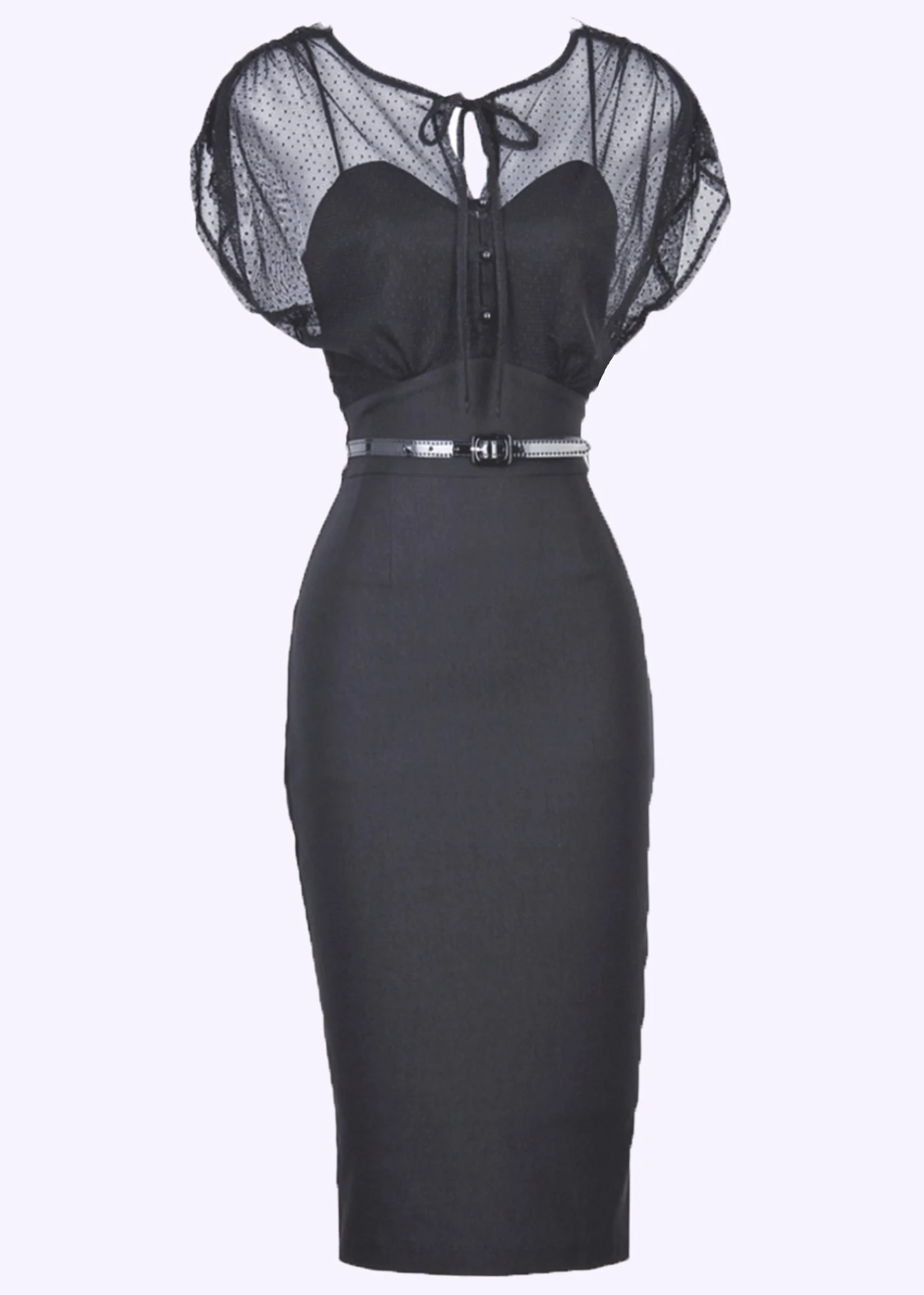 The small black with transparent top detail