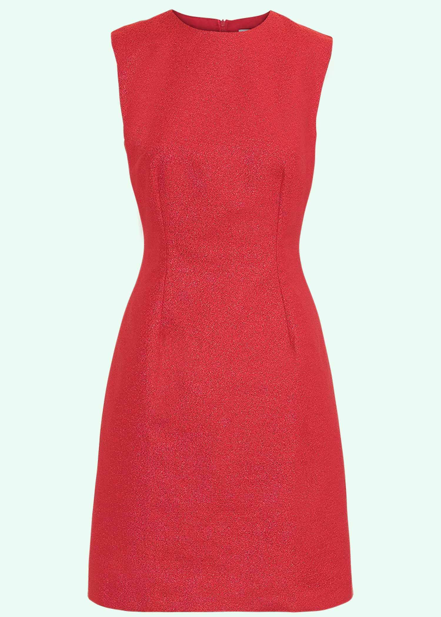 60s style Cocktail dress with glitter in red
