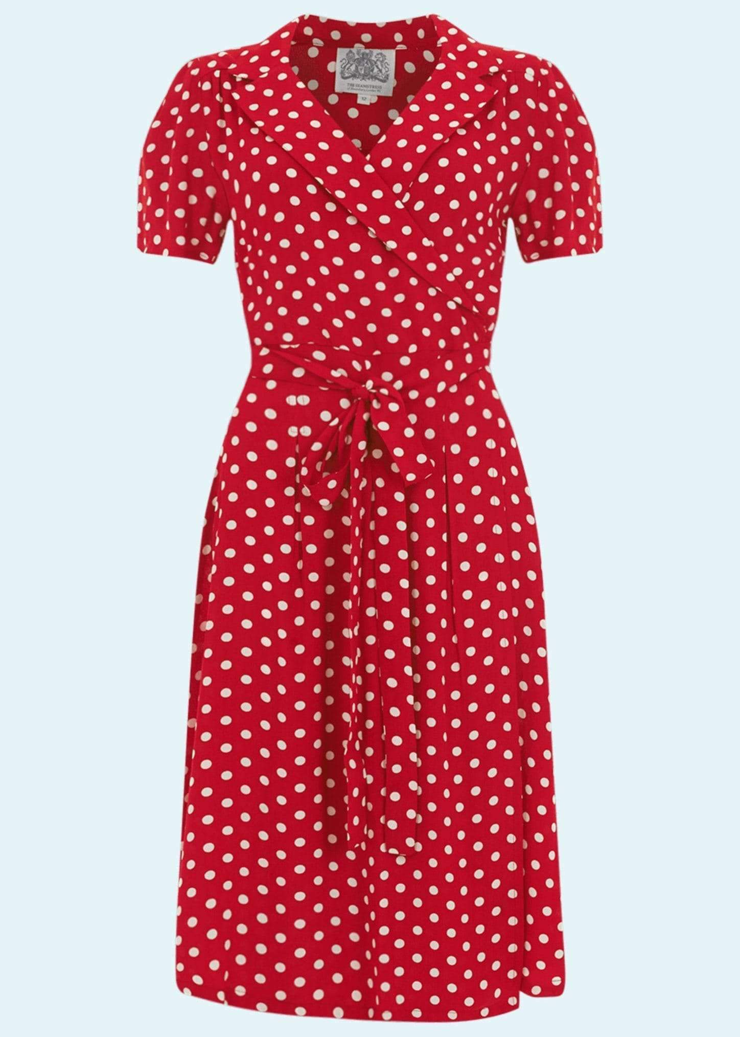 Wrap dress from The Seamstress of Bloomsbury with dots