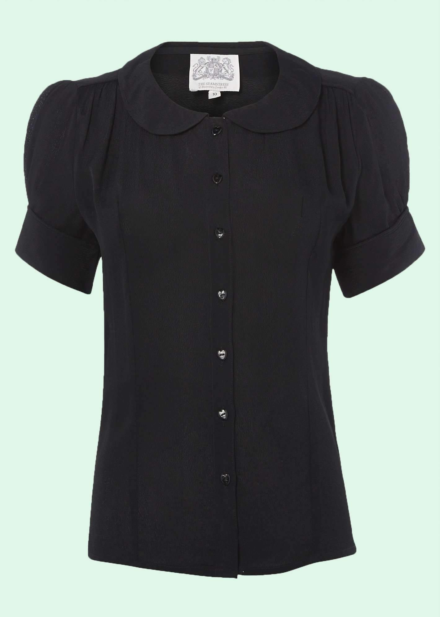 1950s shirt in black