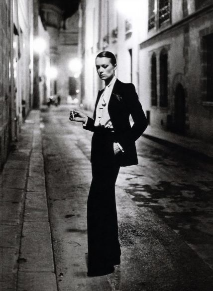 Helmut Newton YSL Le Smoking