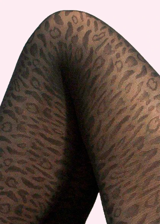 Sustainable leopard tights from Swedish Stockings