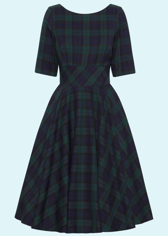 Skotskternet Hepburn swingkjole