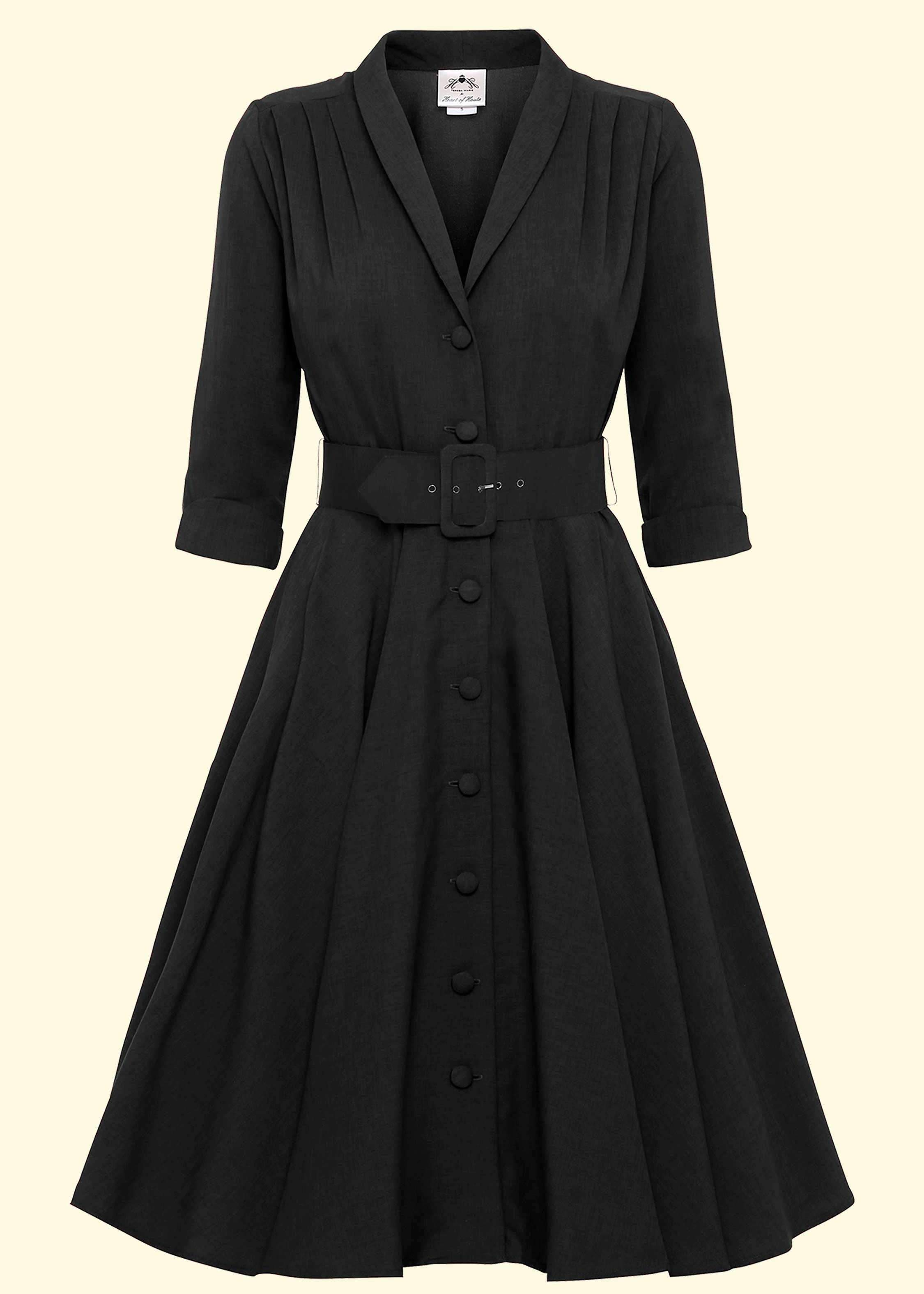 Shirt dress swing style black