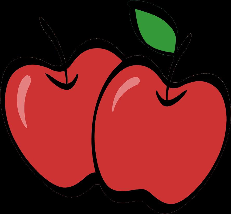 illustrated apples