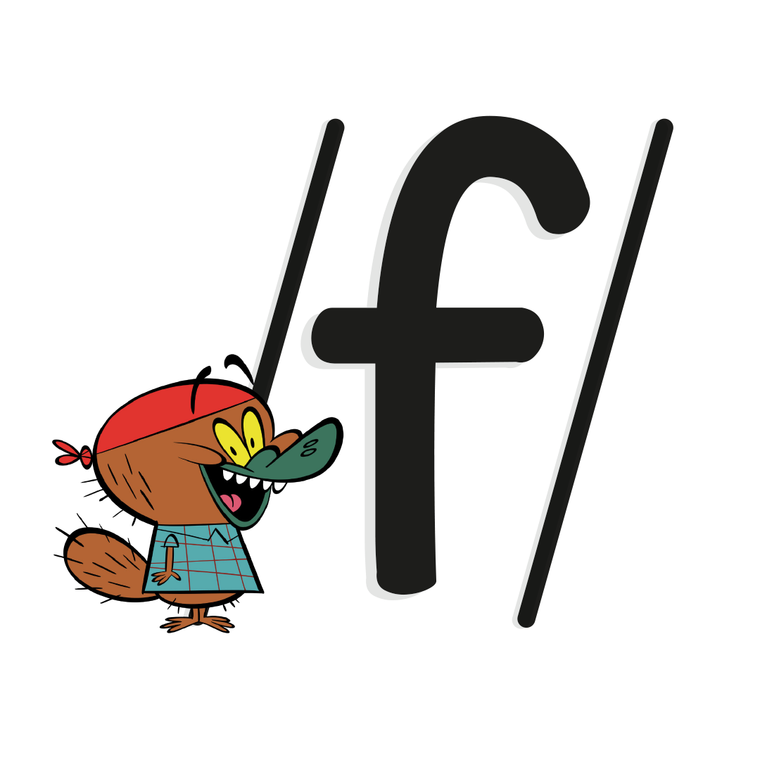 phoneme /f/ with illustrated platypus