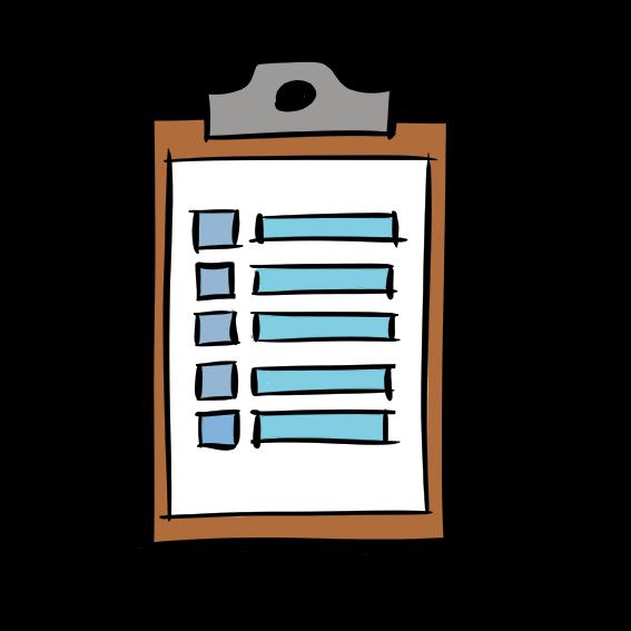 illustrated clipboard