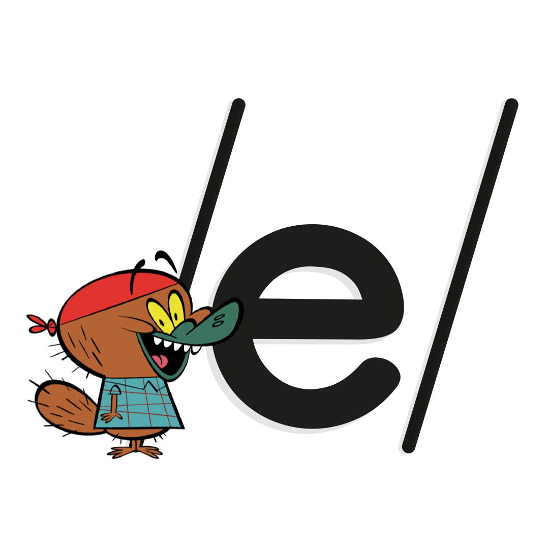 phoneme /e/ with illustrated platypus