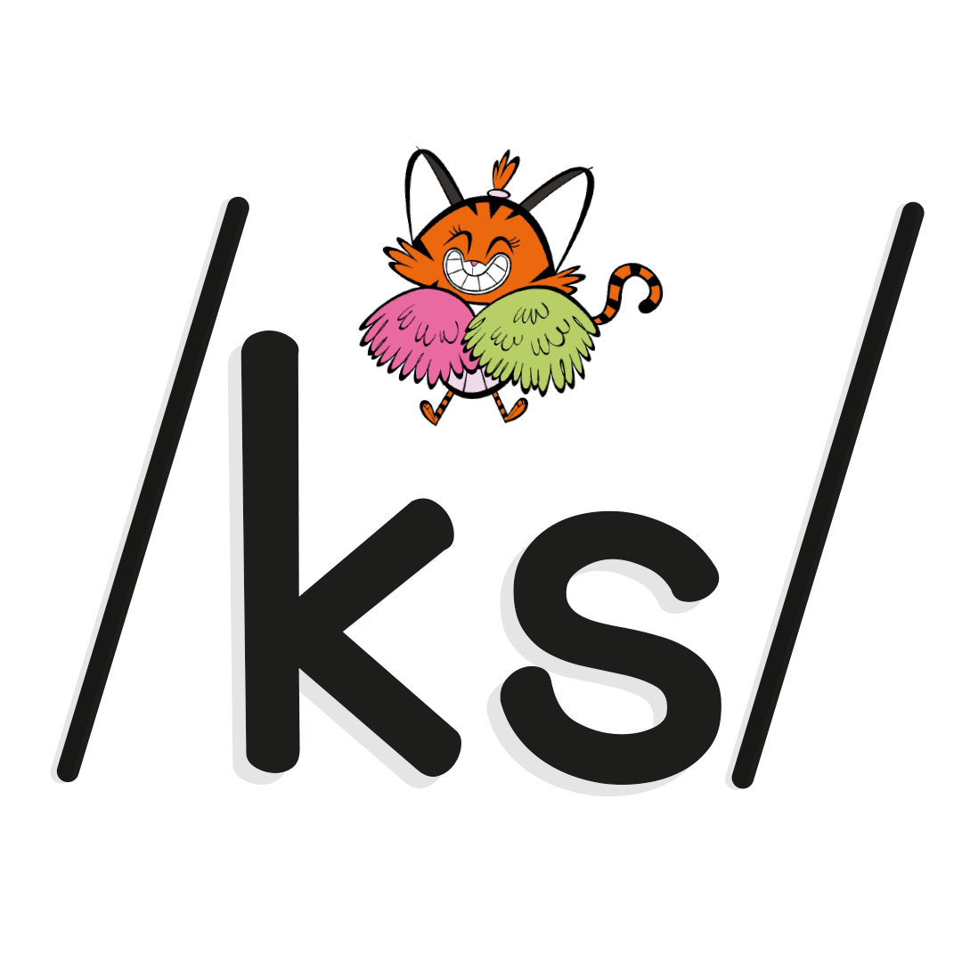 phoneme /ks/ with illustrated character