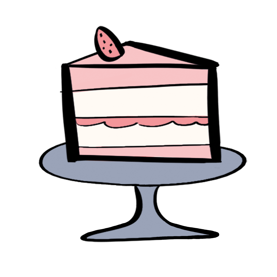 illustrated cake