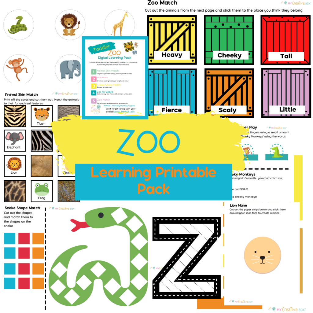 Zoo Printable Learning Pack