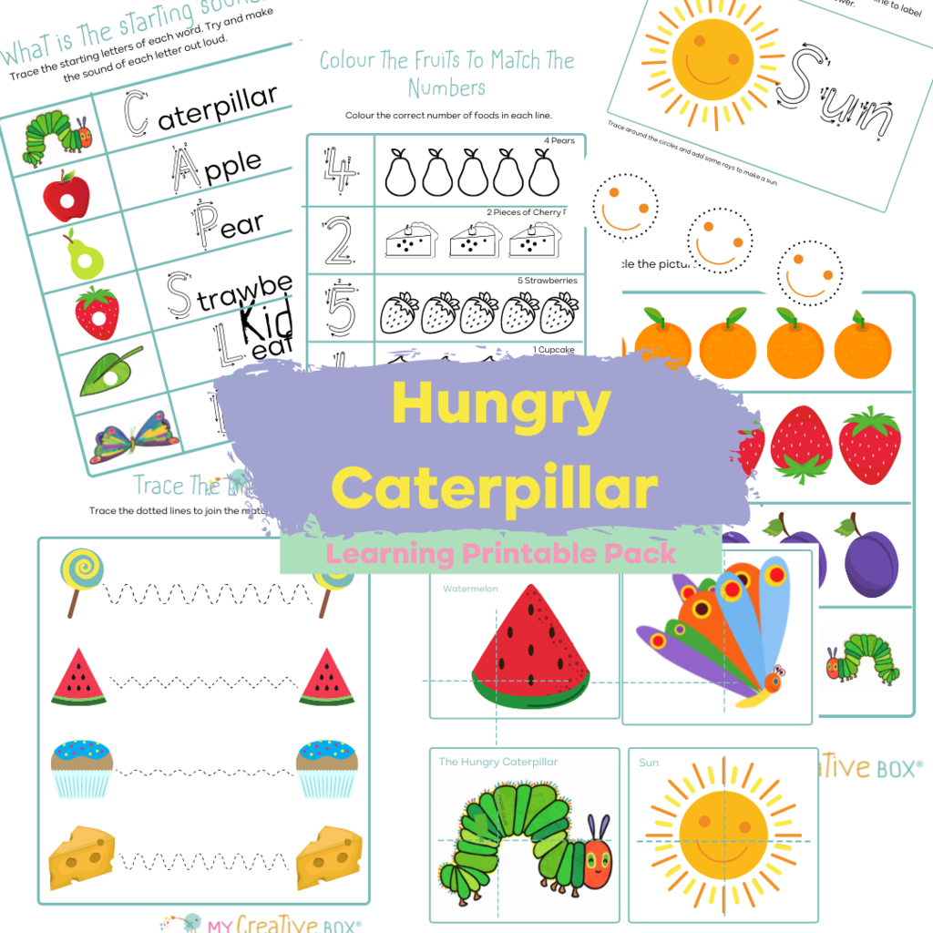Hungry Caterpillar Printable Learning Pack