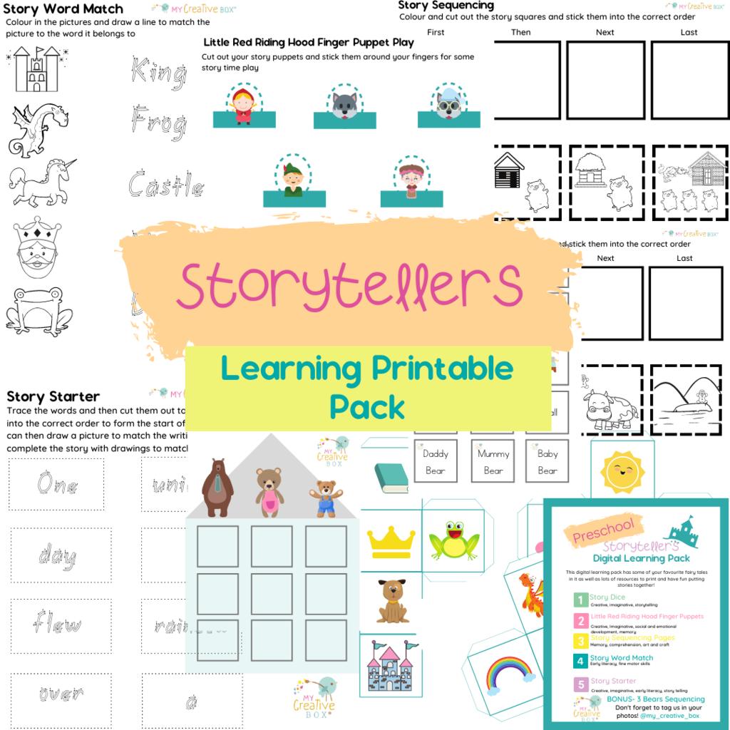 Storytellers Printable Learning Pack