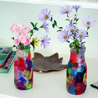 Tissue Paper Vase