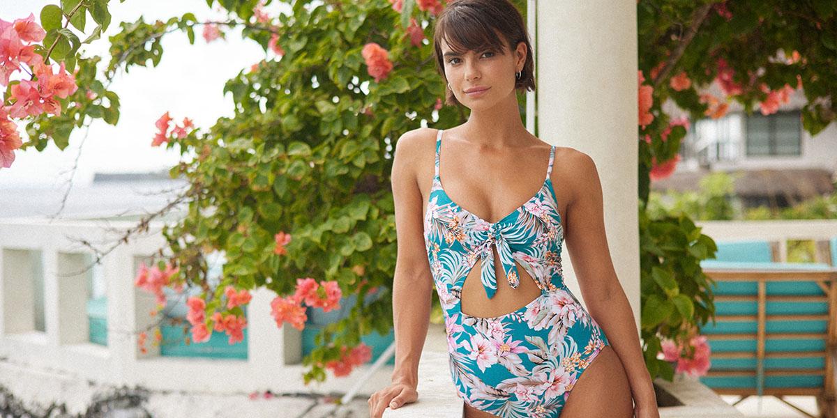 Nip Tuck Swim Australia Tummy Control Floral Print Swimsuit