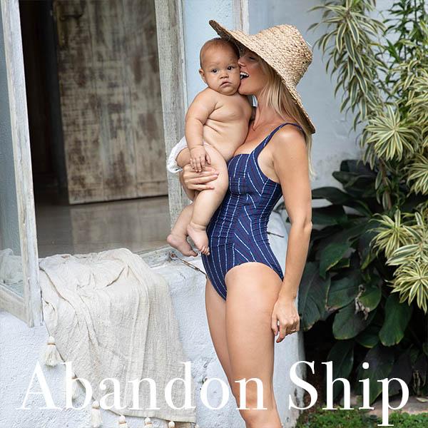 ABANDON SHIP TWIST FRONT DESIGN TUMMY CONTROL ONE PIECE SWIMSUIT
