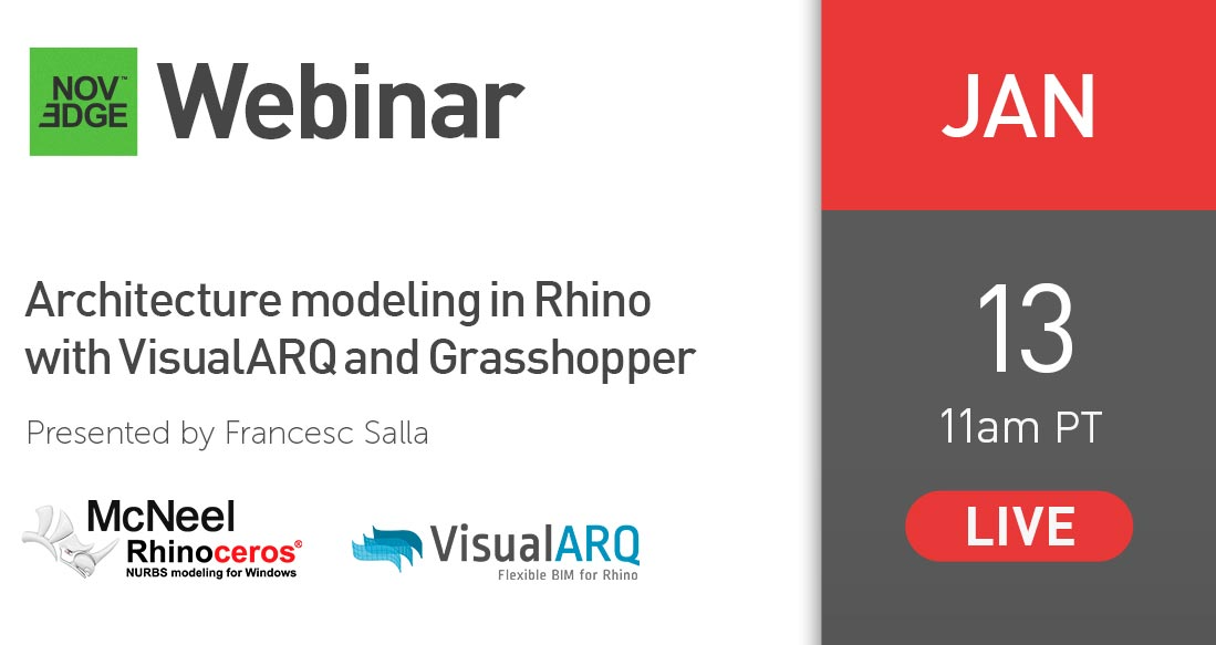 Architecture modeling in Rhino with VisualARQ and Grasshopper