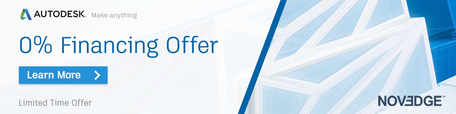 Autodesk 0% Financing Offer