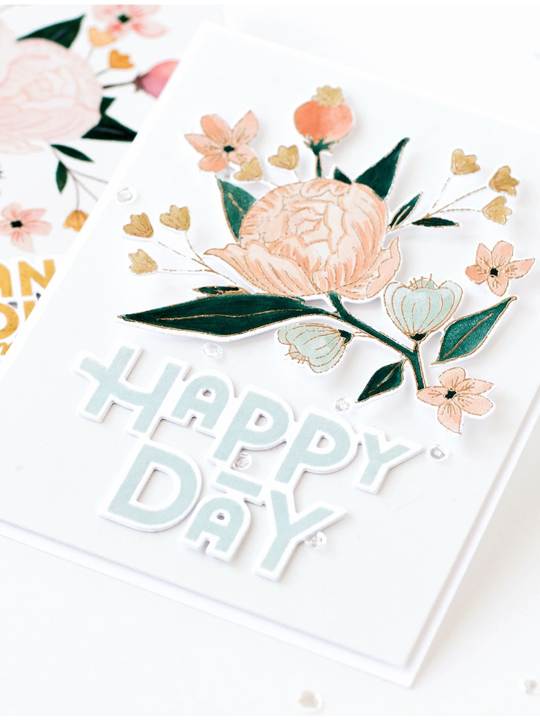 Pigment Blooming Floral Stamp and Stencil Bundle